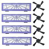 iAmoy Filtro di ricambio e spazzola laterale compatibile Neato Botvac /& serie D modelli 70e 75 80 85 D75 D80 D85 D3 D4 D5 D7 D6 Robot Aspirapolvere
