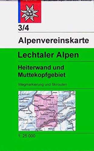Lechtaler Alpen - Heiterwand: Wege und Ski (Alpenvereinskarten)
