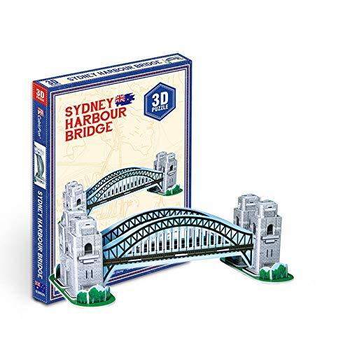 Awxy 3D Puzzle Tower Bridge und Big Ben Die Welt in 3D entdecken, Wahrzeichen der Welt,Bastelspass für Jung und Alt (Hafenbrücke)