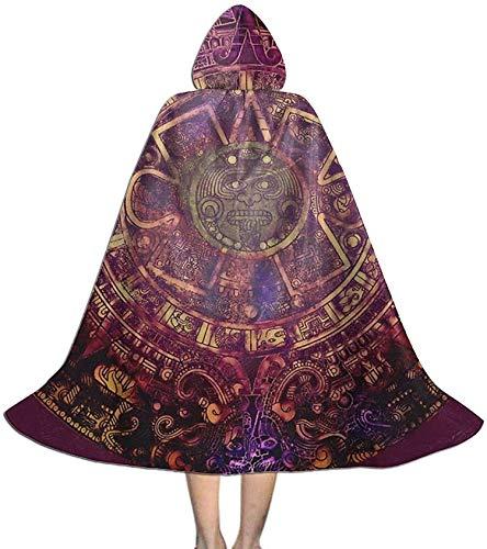 Romance-and-Beauty Mandala para nios Calendario Azteca Nativo Americano Suerte Maya Capa de Halloween