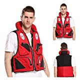 Adult Swim Sea Fishing Jacket Impact Vest Float Jacket Snorkel Vest for Adults Women & Men Motorboat, Water Sports, Boating, Kayaking, Motor Boat, Fishing, Diving, Swimming, Sea Fishing, Fishing,L