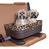 Pet Gear Booster Seat for Dogs/Cats, Removable Washable Comfort Pillow + Liner, Safety Tethers Included, Installs in Seconds, No Tools Required, Chocolate/Jaguar, 20'