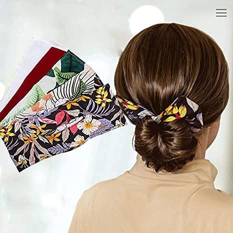 Deft Bun for Hair, Fashion Hair Bands Women Summer Knotted Wire Headband Classy Multicolor Cloth Magic Clip,2021 New Type Hair Braiding Tool, Hair Twist Braider, Salon Maker Model