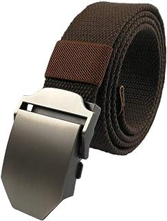 e761bda45 LARRONKETY Men's Military Tactical Web Belt Canvas/Nylon Waist Belts with  Metal/Plastic Buckle