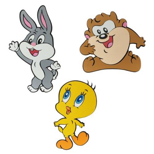 Looney Tunes Baby 000851 - Wanddeko, 32 x 25 cm, 3 Stück