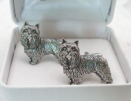 Boutons de Manchette Yorkshire Terrier avec Boîte à Cadeau