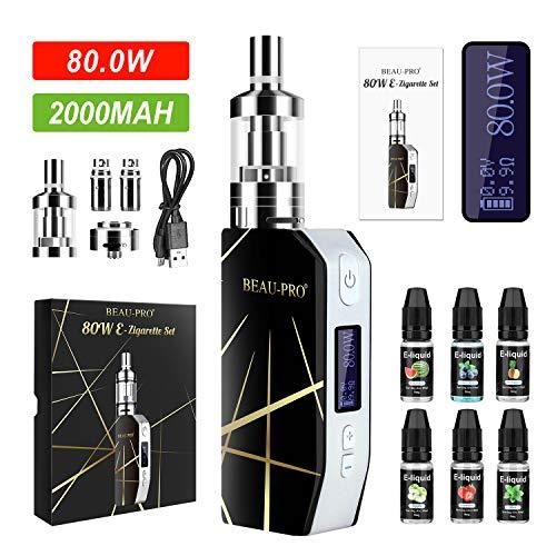 Cigarrillo Electronicos de Vapor sin Nicotina, 80W E/2000mAh Batería