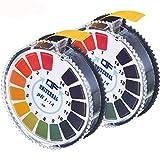 cococity Indikatorpapier Universal PH Teststreifen 2 Rollen Indikator Lackmus Messstreifen 0-14 für...
