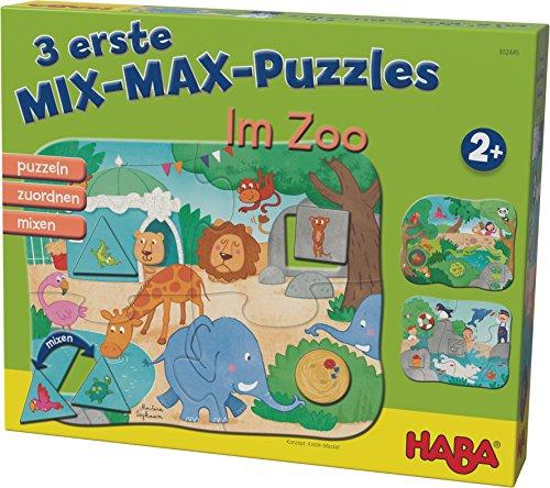 HABA 302545 3 Mix-Max Puzzles - Im Zoo