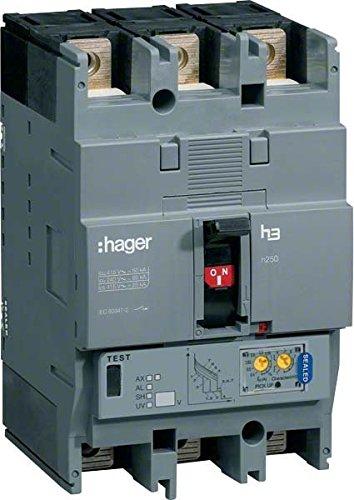 Hager h250 - Interruptor automático h250 3p3d 70ka 125a lsi