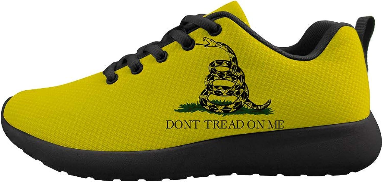 Owaheson Cushioning Sneaker Trail Running shoes Mens Womens Rattlesnake Warning Don't Tread On Me