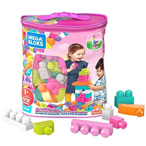 Mega Bloks DCH54 Big Building Bag, Pink, 60 Pieces
