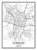 Bild auf Leinwand Niederlande Utrecht Stadtkarte Bilder