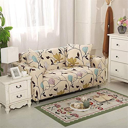 HFTYCC Funda de sofá Espesar Decoración del hogar Banco Funda de sofá Tejido elástico Antideslizante Elástico Silla Funda de sofá nórdico-1 Seater_Green-3 Seater_Beige