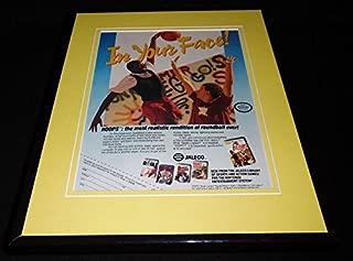 Jaleco Bases Loaded Hoops 1989 NES Nintendo 11x14 Framed ORIGINAL Advertisement