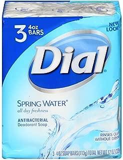 Dial Antibacterial Soap Bars, Spring Water, 4 oz bars, 3 ea (Pack of 6)