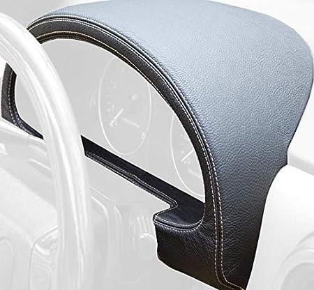 Black Alcantara-Blue Thread RedlineGoods Seatbelt Covers Compatible with Mazda Miata NA 1990-97