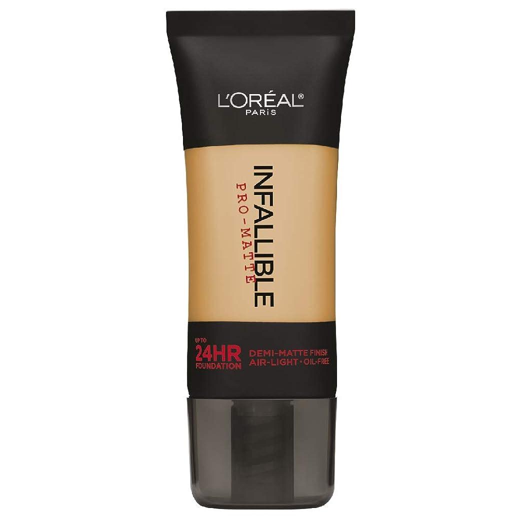 正確にストレッチ提唱するL'Oreal Paris Infallible Pro-Matte Foundation Makeup, 106 Sun Beige, 1 fl. oz[並行輸入品]