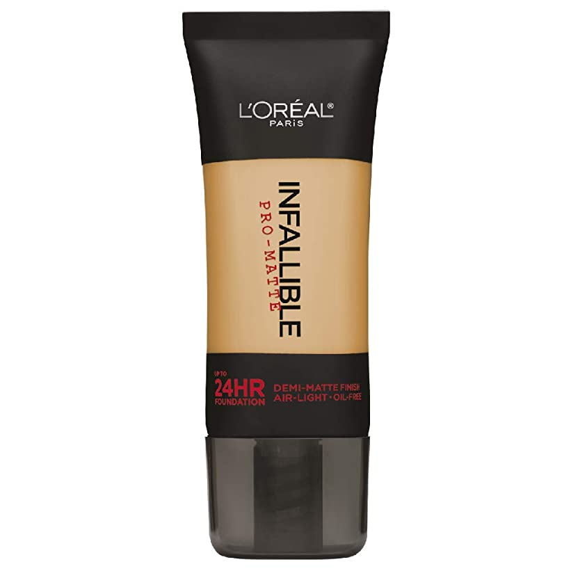 リアルモノグラフ露L'Oreal Paris Infallible Pro-Matte Foundation Makeup, 106 Sun Beige, 1 fl. oz[並行輸入品]
