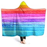 Shenguang Warm Hoodie Manta Colorfulness Hooded Throw Wrap Cape Cloak Sweatshirt Youth Thick Home Office Mantón de Franela con Mangas