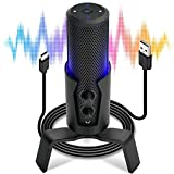 Pyle Selectable Pickup Pattern RGB USB Microphone - 4 Recording Modes Cardioid, Bidirectional,...