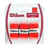 Wilson Pro Soft Overgrip Empuñadura, 3 unidades, unisex, rojo