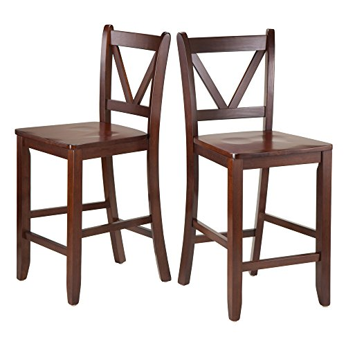 Winsome Victor Stools, 24', Brown