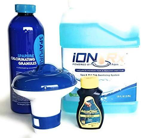 iONRx Granular Chlorine Bundle with Test Strips Natural Hot Tub Sanitizing Treatment Rediscover product image