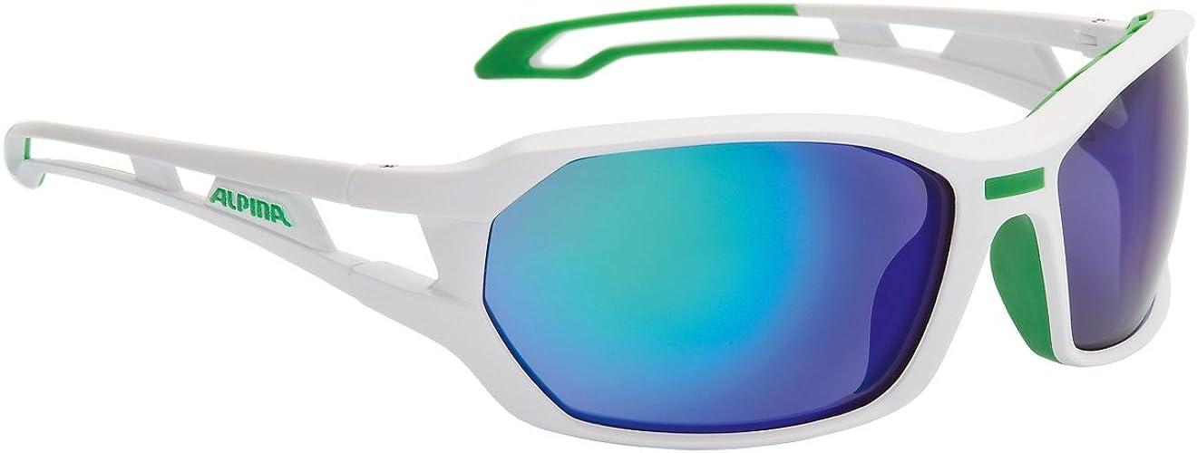 ALPINA Lunettes de Sport berryn cM (Blanc Mat Vert)