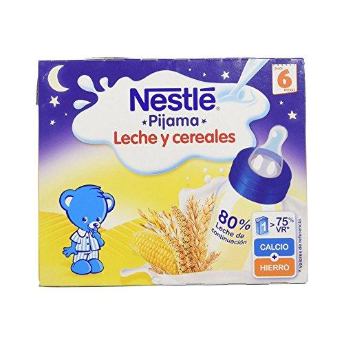 Nestlé - Leche y Cereales Pijama - Paquete de 2 x 250 ml - Total: 500 ml - , Pack de 6
