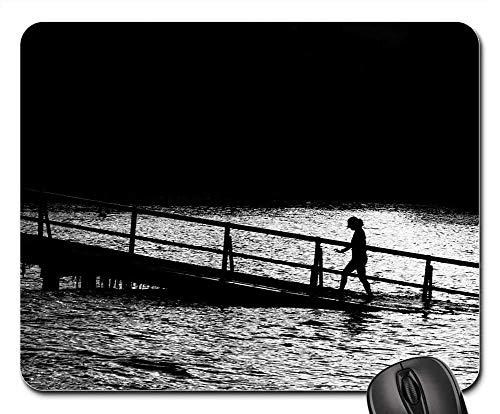 Alfombrilla Muelle Embarcadero Hundido Inclinado Pendiente Persona Caminando 25X30 Cm
