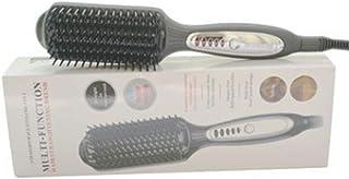 ストレートブラシ 加熱ストレートヘアコームLED温度制御マイナスイオンストレートヘアストレートヘアコームを加熱しないでください ストレートストレート櫛 ヘアブラシ ヘアストレートマッサージくし美髪ケア 髪に優しい 火傷防止 (Color : Gray)