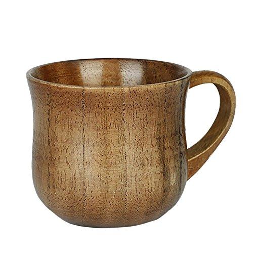 Demarkt Holzbecher Holz Tasse Natürliche Holztasse Trinkbecher Cup Getränk Tasse