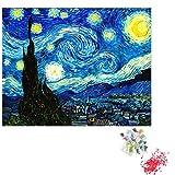 Clásico Rompecabezas Juego 5D bricolaje noche estrellada diamante pintura de los kits del número for adultos Ronda taladro completo cristalino del Rhinestone de Van Gogh bordado for el lienzo de pared