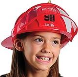 Deluxe Child Firefighter Hard Hat Toy Helmet & Visor