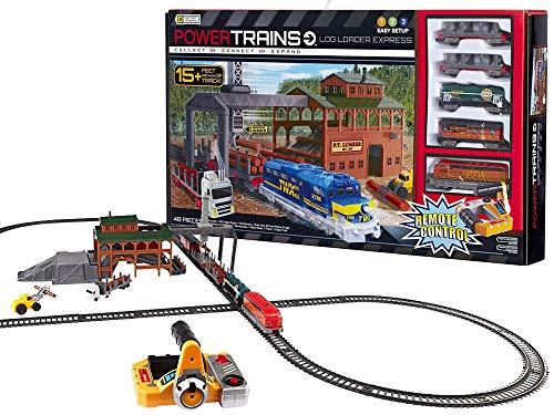 BSD Ferrocarril para Niños - Set de Tren Eléctrico de Juguete - Tren a Control Remoto con Accesorios - 457 cm