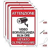 AlfaView Cartelli Segnali Videosorveglianza, 10'x 7' Alluminio UV Protetto e Impermeabile Nessun Metallo Trasgredicente Segnale di Sicurezza Riflettente di Sicurezza per Casa d'affari