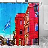 Argentina Buenos Aires Cortina de Ducha Viaje Decoración de Baño Set Con Ganchos Poliéster 72x72 Pulgadas (YL-00125)