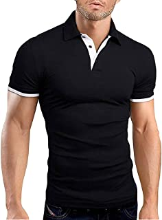 Men's Short Sleeve Polo Shirts Casual Slim Fit Fashion...