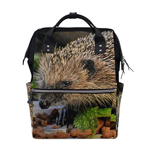 Sac à dos à langer Hedgehog Animal Mammal Sac à langer pour maman Sac à langer grande capacité Sac de voyage pour femme Sac à dos d'école Sac de randonnée
