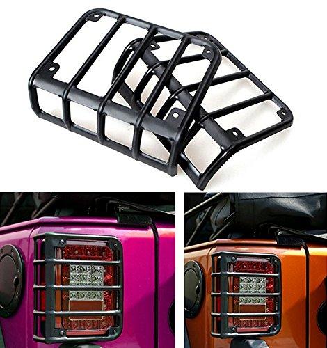 i-shop matt schwarz Rugged Style Rücklicht Cover -Paar