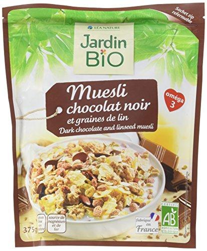 Jardin Bio Muesli Chocolat Noir/Graines de Lin 375 g