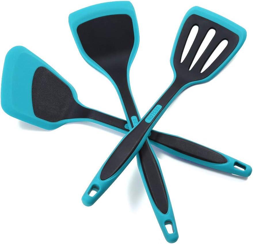 DESLON service Silicone Spatula-3 Piece Max 87% OFF Set Kitchen Utensils Resist Heat
