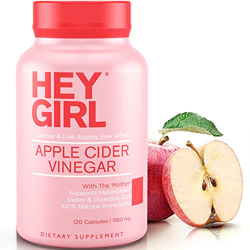 Apple Cider Vinegar Capsules - Great for Detox, Cleanse + Natural Weight Loss | Reduces Bloating and Aids Digestion to Keep Your Gut Happy by Hey Girl Nutrition