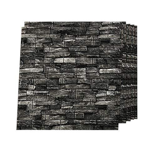 Papel pintado 3D paneles de pared 3D Peel and Stick autoadhesivo habitación de los niños cuarto de baño sala de estar TV paredes sofá fondo decoración de pared gris A 20pcs