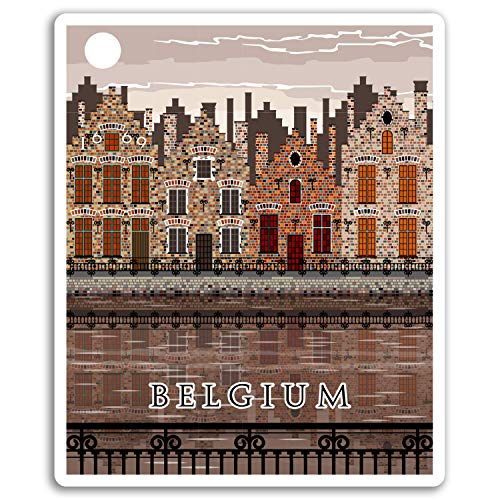 2 x 10cm Bélgica pegatinas de vinilo - Viajes Bruselas etiqueta de equipaje portátil # 17047 (10 cm de altura)
