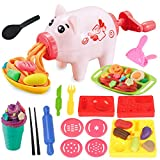 Pony Toy Playdough Tools 18 Kits for Kids, Dough Kitchen Creations Playset,Ice Cream and Pasta Toys Set for Boys and Girls,Compound is no Contained