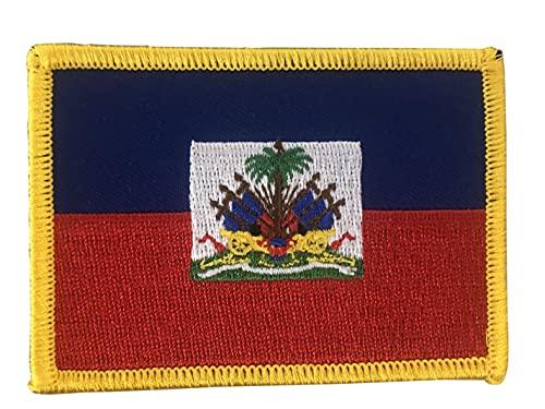 Aufnäher zum Aufbügeln, Motiv: Haiti-Flagge, 6,3–8,9 cm