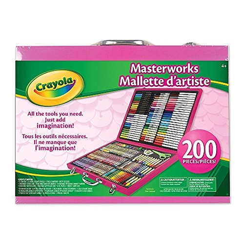 Crayola Pink 200-Piece Masterworks Art Case [Toy]