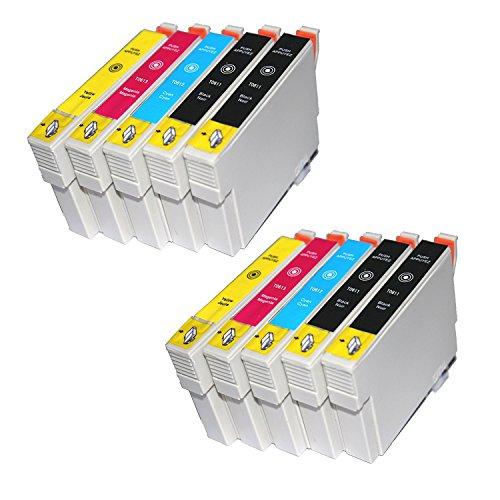 TiAN–10compatible Cartuchos de tinta reemplazar T0611T0612T0613T0614para Epson Stylus DX4200DX4250DX4800DX4850DX3800DX3850D68D88impresoras